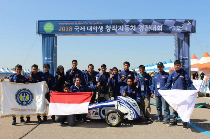 Bangganya Tim Garuda UNY Asal Indonesia Sukses Juarai Kompetisi Mobil di Korea Selatan